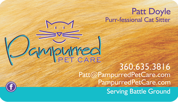 Pampurred Pet Care . Business card Banner